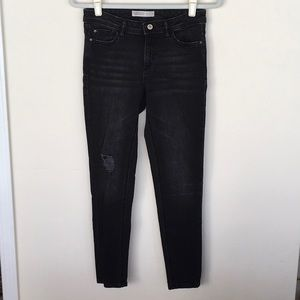 Zara Basic Skinny distressed denim.